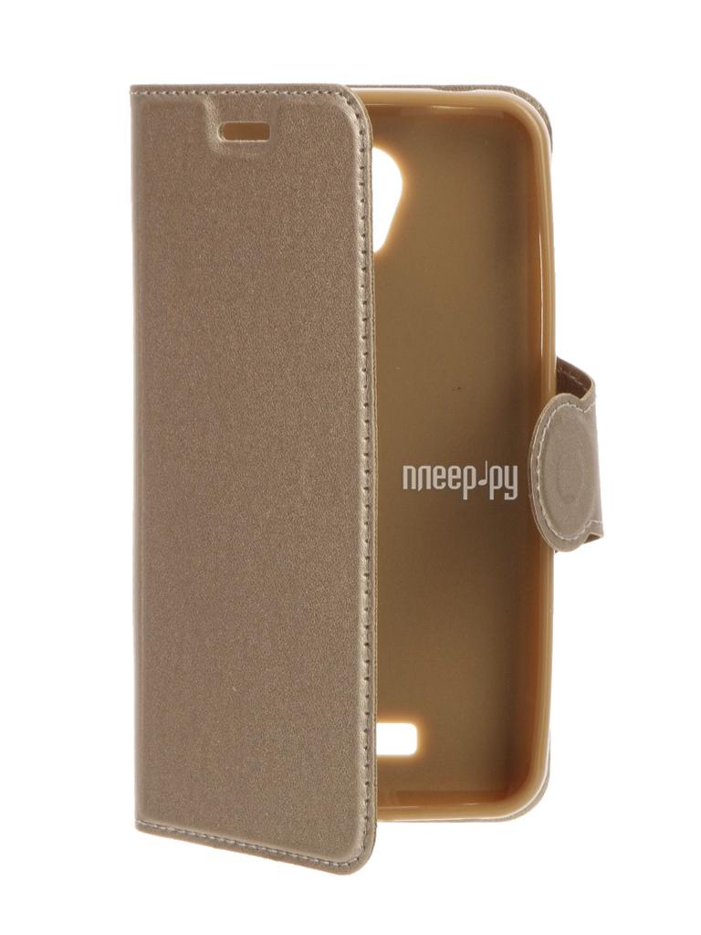 Аксессуар Чехол Lenovo A Plus A1010 / Vibe B A2016 Red Line Book Type Gold