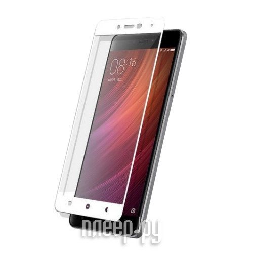 Аксессуар Защитное стекло Xiaomi Redmi Note 4 Zibelino TG Full Screen White 0.33mm 2.5D ZTG-FS-XMI-NOT4-WHT
