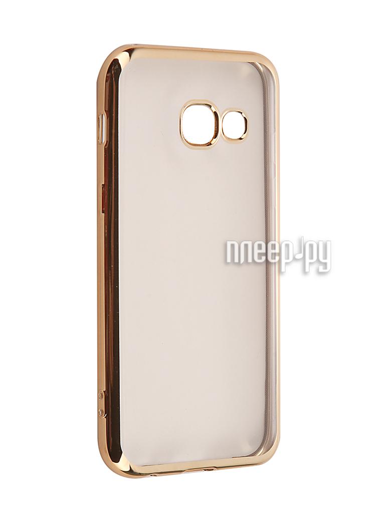 Аксессуар Чехол Samsung Galaxy A3 2017 iBox Blaze Gold frame