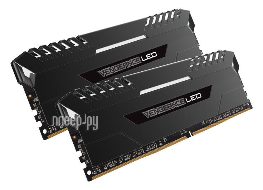 Модуль памяти Corsair Vengeance LED DDR4 DIMM 3000MHz PC4-24000 CL15 - 32Gb KIT (2x16Gb) CMU32GX4M2C3000C15