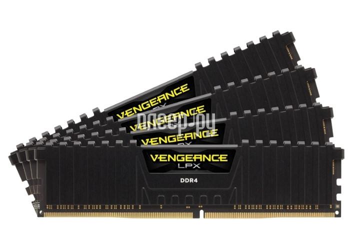 Модуль памяти Corsair Vengeance LPX DDR4 DIMM 2800MHz PC4-22400 - 32Gb KIT (4x8Gb) CMK32GX4M4A2800C16