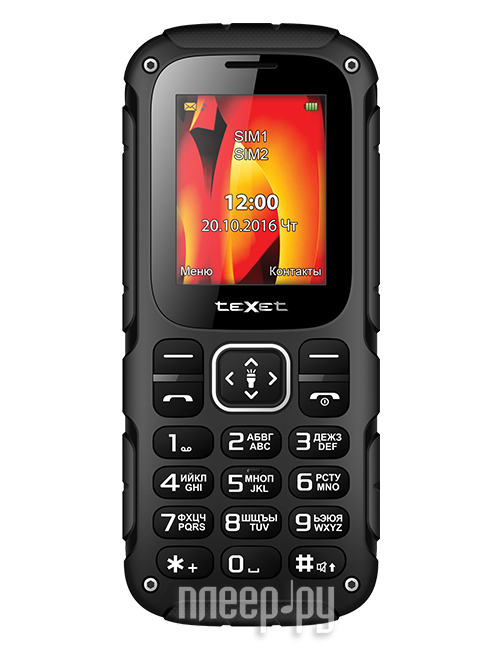 Сотовый телефон teXet TM-504R Black-Red