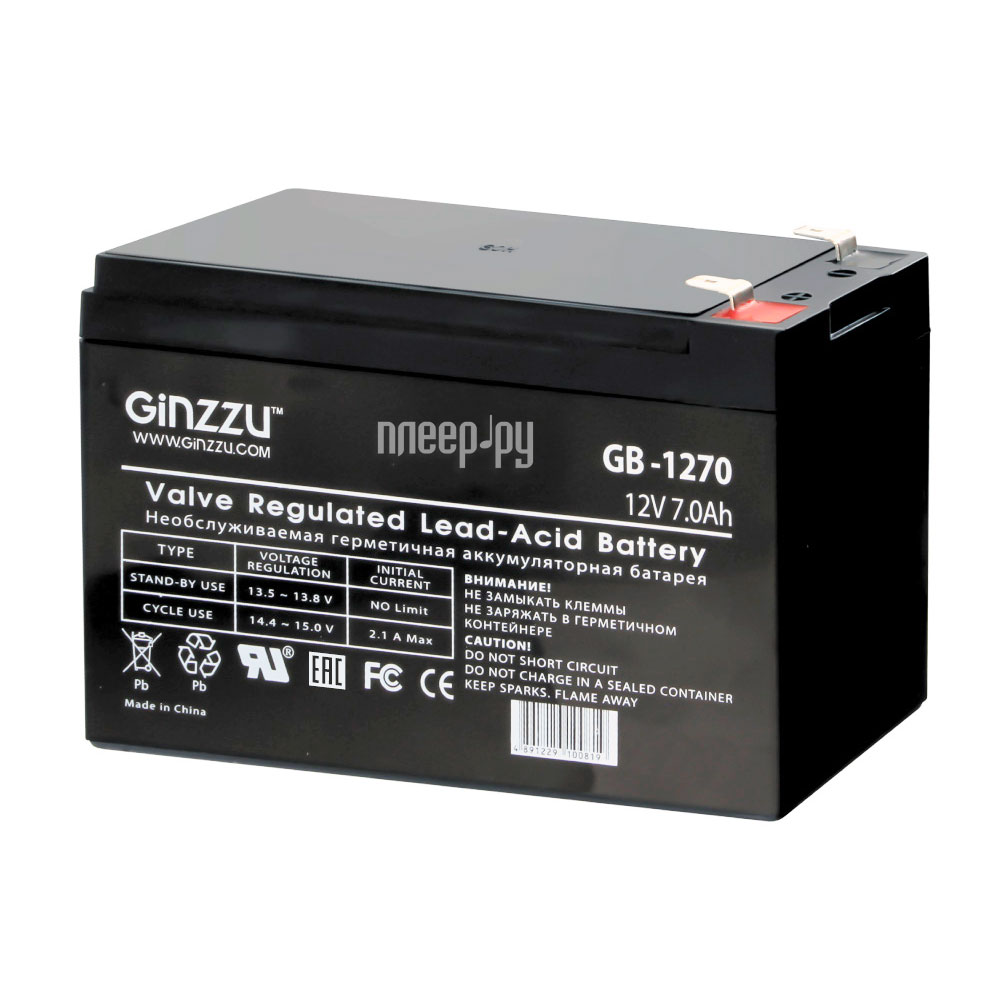 Аккумулятор для ИБП Ginzzu GB-1270
