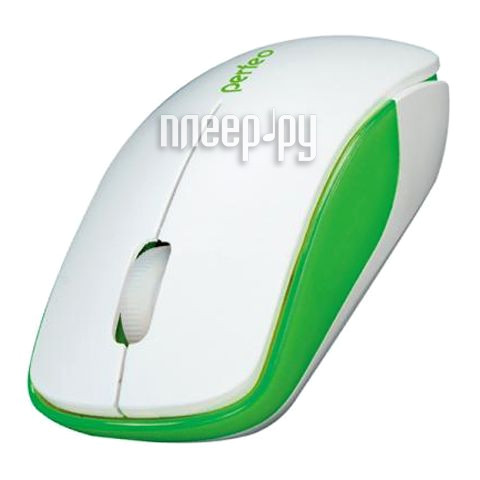 Мышь Perfeo Assorty USB White-Green PF-763-WOP-W/G