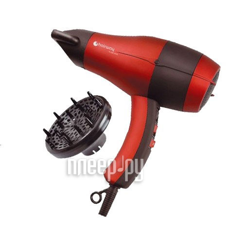 Фен HairWay Flame Ionic Velours-Red 03058