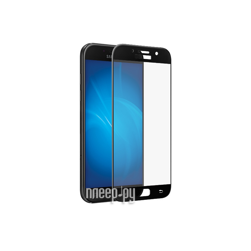 Аксессуар Защитное стекло Samsung Galaxy A7 2017 BoraSCO Full Cover Black