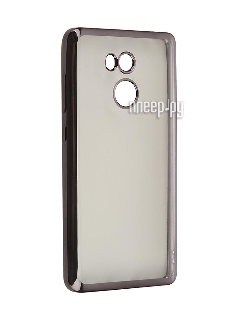 Аксессуар Чехол Xiaomi RedMi 4 SkinBox Silicone Chrome Border 4People Dark-Silver T-S-XR4-008 купить