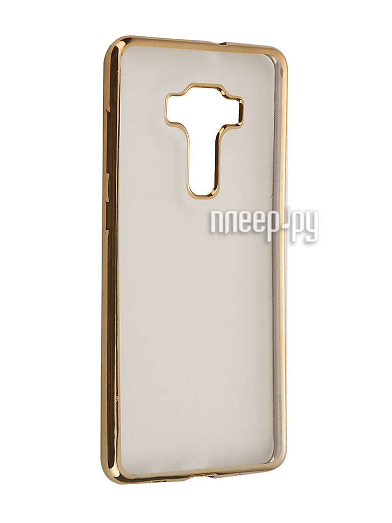 Аксессуар Чехол ASUS ZenFone 3 ZS570KL SkinBox Silicone Chrome Border 4People Gold T-S-AZS570KL-008