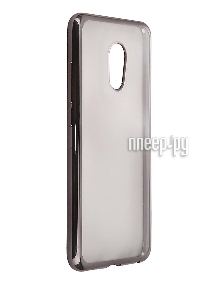 Аксессуар Чехол Meizu Pro 6 SkinBox Silicone Chrome Border 4People Dark Silver T-S-MP6-008