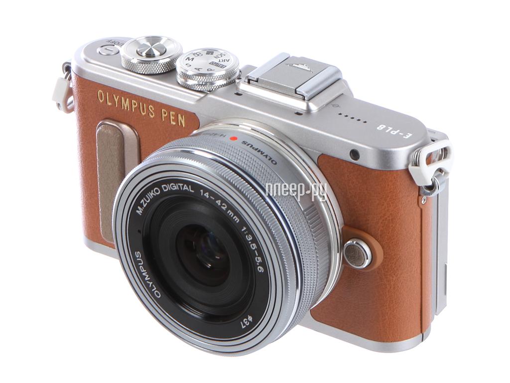 Фотоаппарат Olympus PEN E-PL8 Kit 14-42 mm EZ-M1442EZ Brown-Silver
