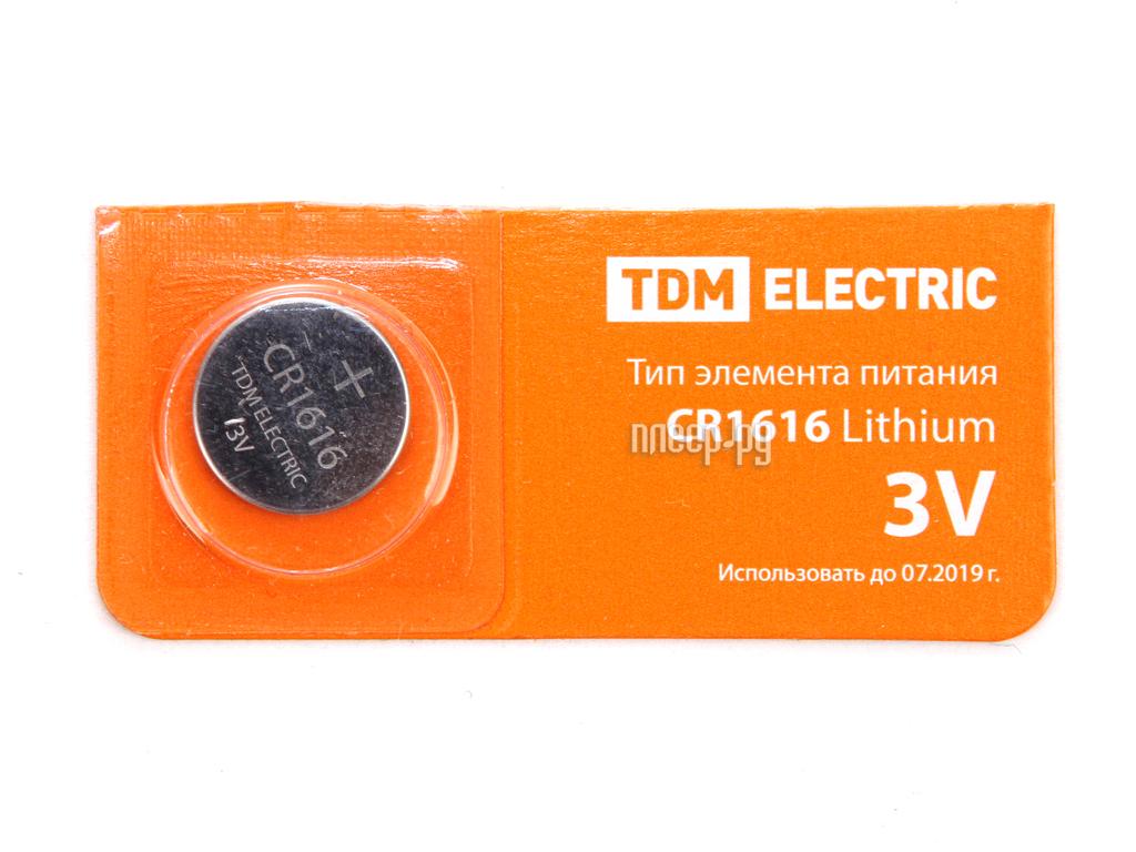 Батарейка CR1616 - TDM-Electric Lithium 3V BP-5 SQ1702-0025 (1 штука)