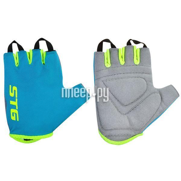 Велоперчатки STG AL-03-418 Cyan-Light Green X74366-S