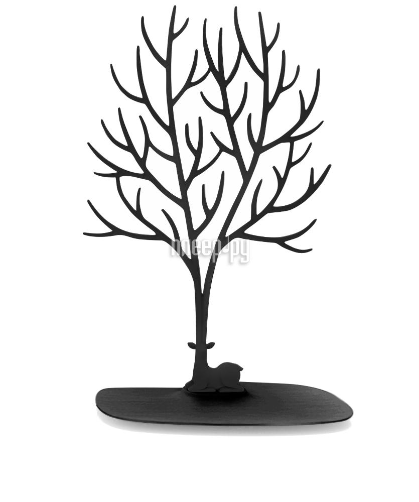 Гаджет Эврика Кольцедержатель. Дерево с оленем Большое Black 97547
