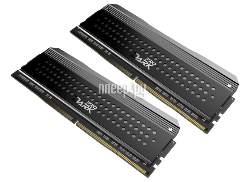 Модуль памяти Team Group Dark Pro Gray UD-D4 DDR4 DIMM 3200MHz PC4-25600 CL14 - 16Gb KIT (2x8Gb) TDPGD416G3200HC14ADC01