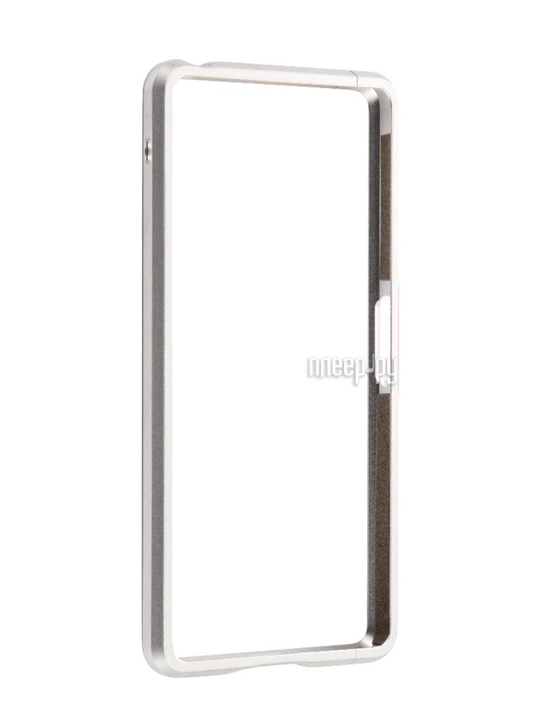 Аксессуар Чехол Sony Xperia X Performance BROSCO Silver XP-BMP-SILVER