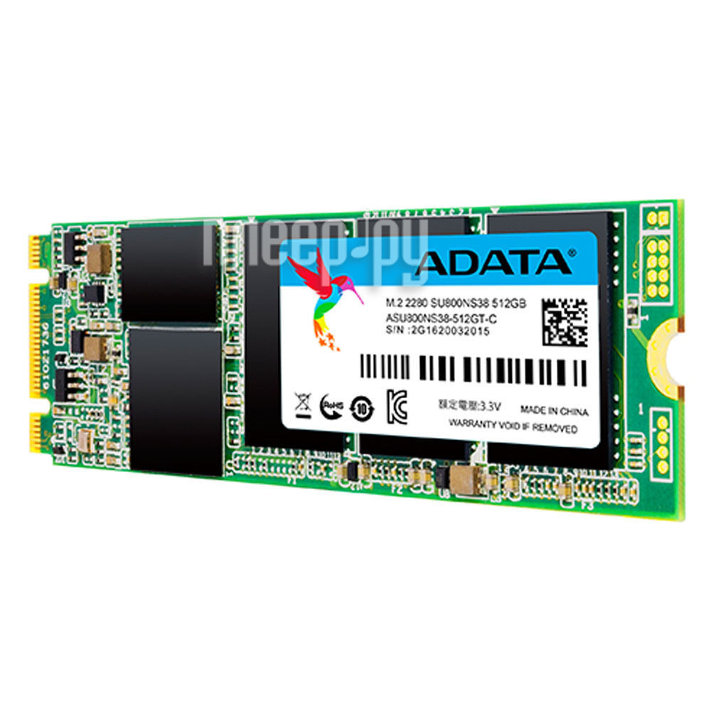 Жесткий диск 512Gb - A-Data Ultimate SU800 M.2 2280 ASU800NS38-512GT-C