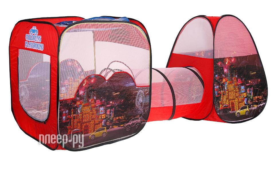 Игрушка для активного отдыха Палатка СИМА-ЛЕНД Ночной город с туннелем Red 334688