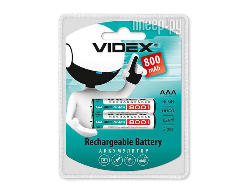 Аккумулятор AAA - Videx HR03 800 mAh 2BL LSD