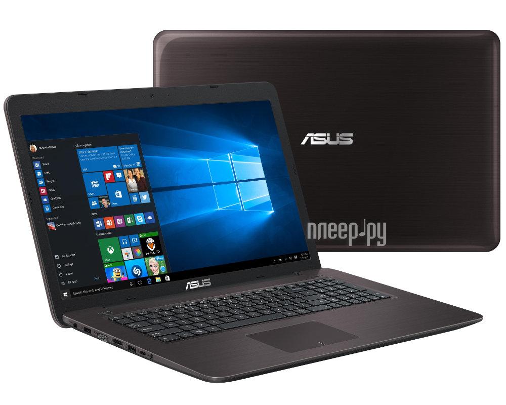 Ноутбук ASUS X756UV-TY077T 90NB0C71-M00810 (Intel Core i3-6100U 2.3 GHz / 4096Mb / 500Gb / DVD-RW / nVidia GeForce 920MX 2048Mb / Wi-Fi / Bluetooth / Cam / 17.3 / 1600x900 / Windows 10 64-bit)