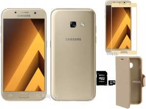 Купить Сотовый телефон Samsung SM-A320F Galaxy A3 (2017) Gold Выгодный набор + подарок серт. 200Р!!