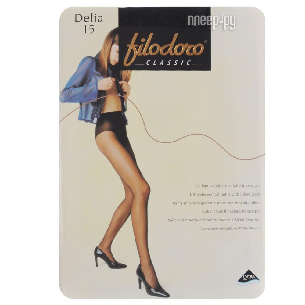 Колготки Filodoro Delia размер 4 плотность 15 Den Nero купить