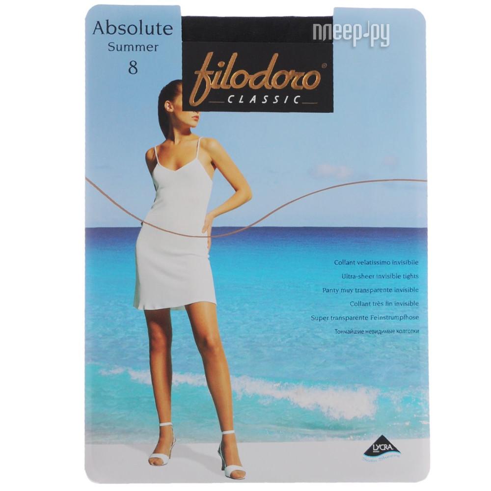 Колготки Filodoro Absolute Summer размер 3 плотность 8 Den Nero