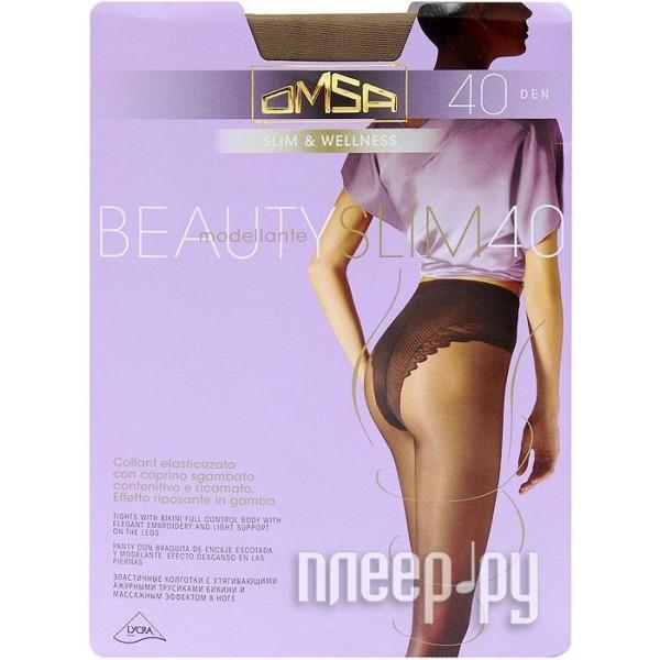 Колготки OMSA Beauty Slim размер 2 плотность 40 Den Caramello