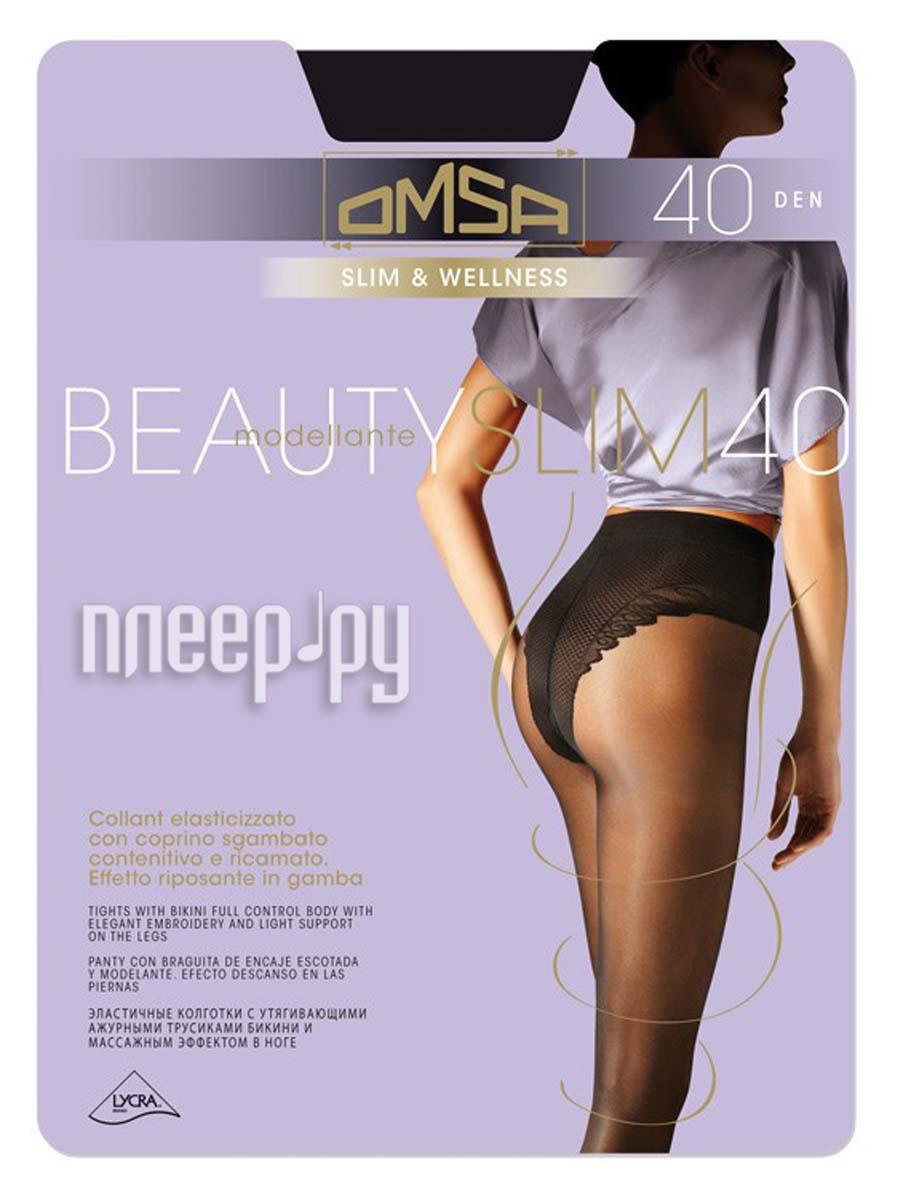 Колготки OMSA Beauty Slim размер 4 плотность 40 Den Nero