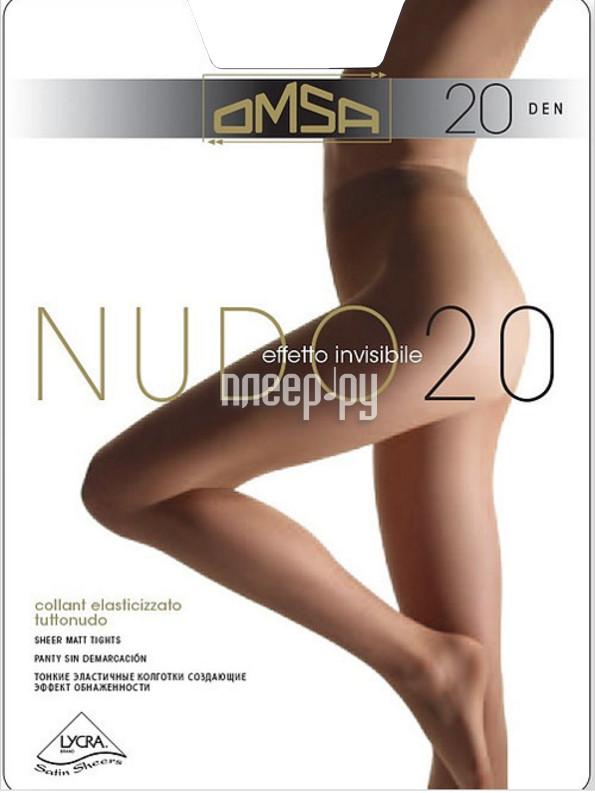 Колготки OMSA Nudo размер 4 плотность 20 Den Nero
