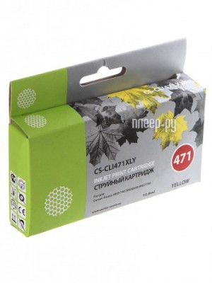 Купить Картридж Cactus CS-CLI471XLY Yellow для Canon MG5740/MG6840/MG7740