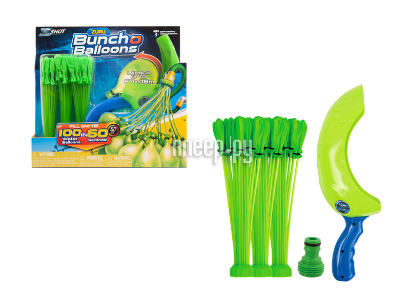 Игра спортивная Zuru Bunch O Balloons 100 шаров с пусковым устройством Z1241