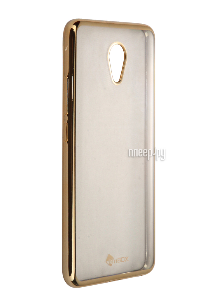 Аксессуар Чехол-накладка Meizu M5 Note SkinBox Silicone Chrome Border 4People Gold T-S-MM5N-008