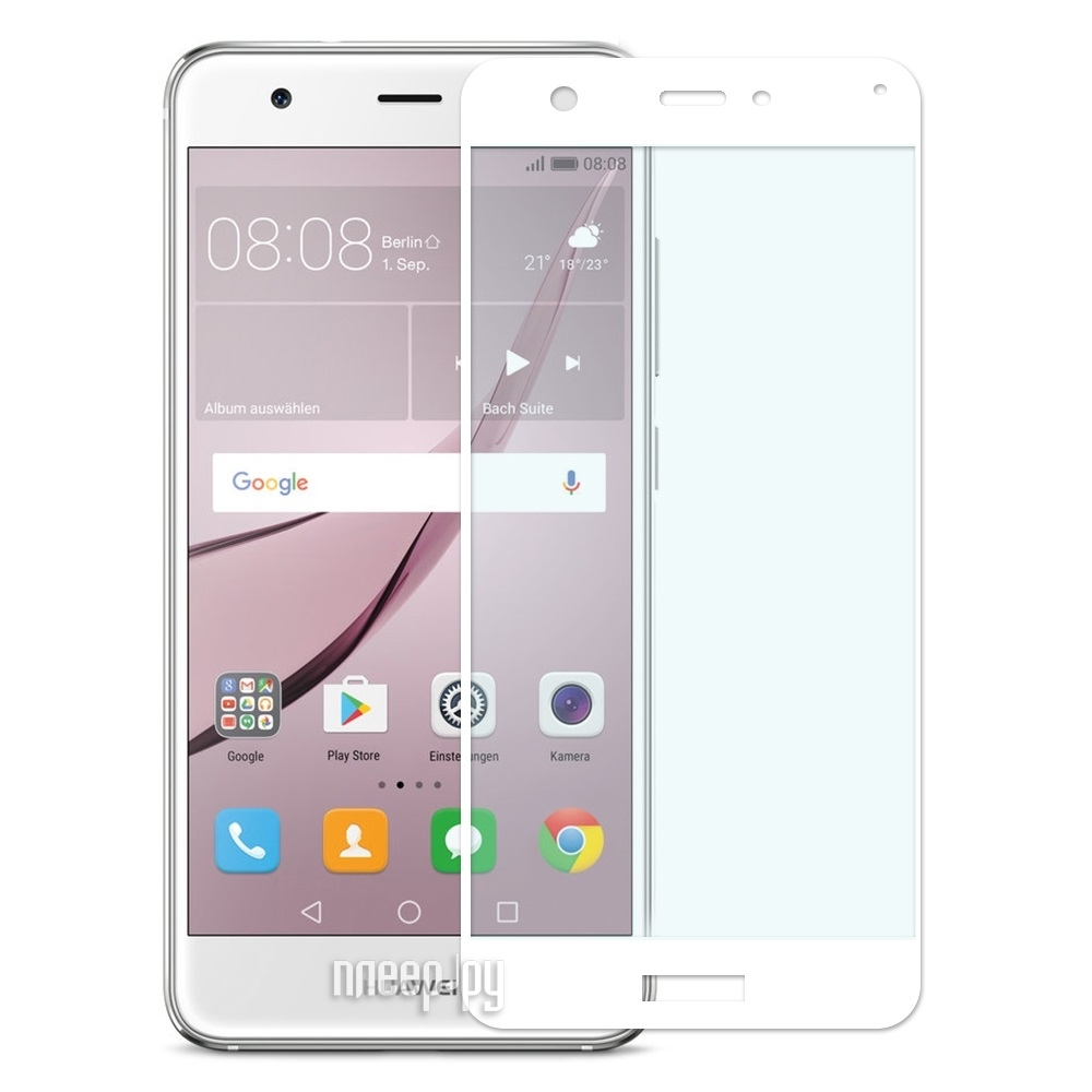 Аксессуар Закаленное стекло Huawei Nova DF Fullscreen hwColor-04 White