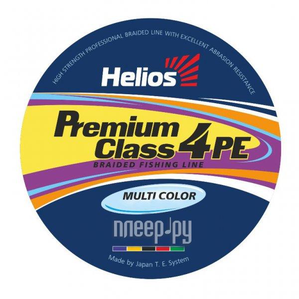 Шнур плетёный Helios Premium Class 4 PE Braid 0.18mm 135m Multicolor HS-4PFM-18/135 M