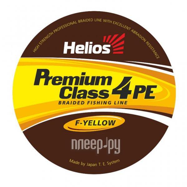 Шнур плетёный Helios Premium Class 4 PE Braid 0.18mm 92m Fluorescent Yellow HS-4PFY-18/92 Y