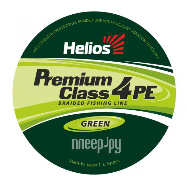 Шнур плетёный Helios Premium Class 4 PE Braid 0.20mm 92m Green HS-4PFG-20/92 G
