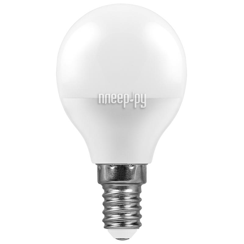 Лампочка Feron LB-550 9W 230V E14 6400K G45 25803