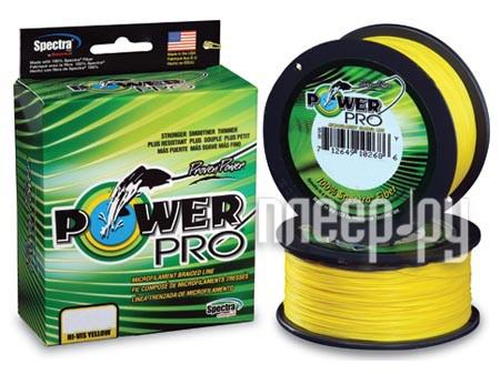 Шнур плетёный Power Pro 0.23mm 92m Hi-Vis Yellow PP092HVY023