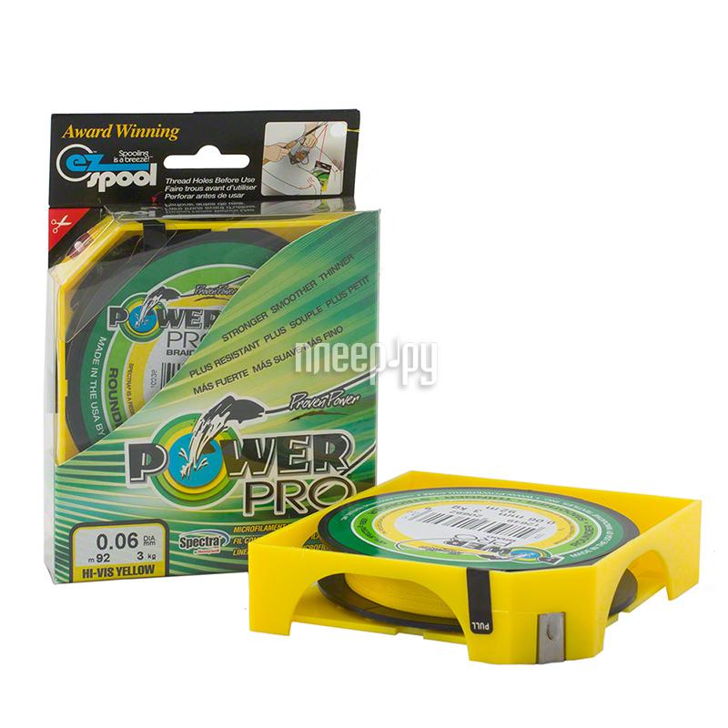 Шнур плетёный Power Pro 0.06mm 92m Hi-Vis Yellow PP092HVY006