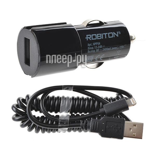 Зарядное устройство Robiton App04 Car Charging kit 2.4A iPhone/iPad