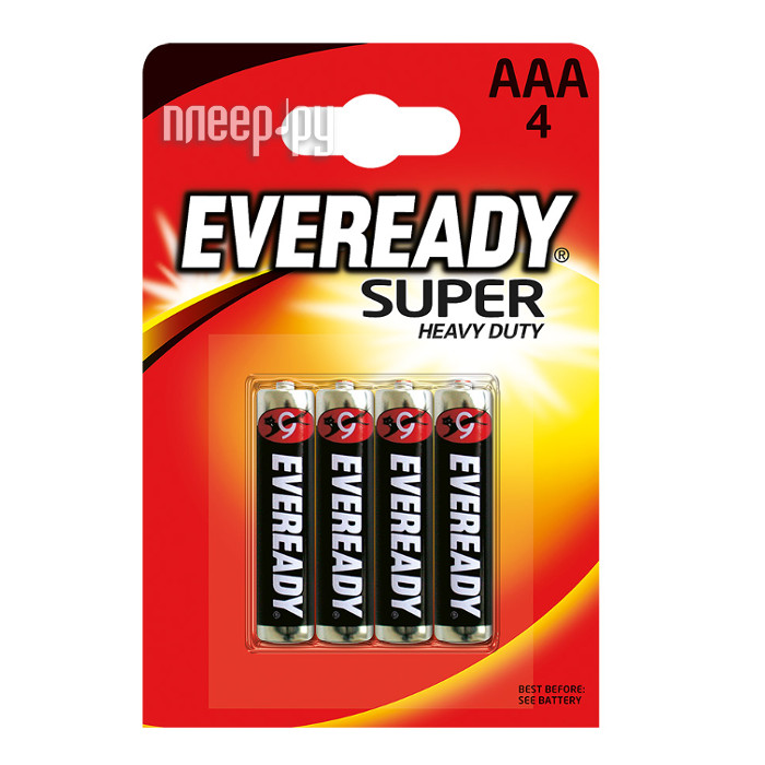 Батарейка AAA - Energizer Eveready Super R03 Ni-MH (4 штуки)