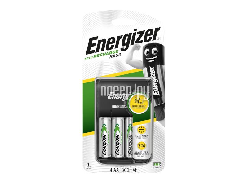 Зарядное устройство Energizer Base Charger EU Plug + 4 AA 1300 mAh 635078/638578