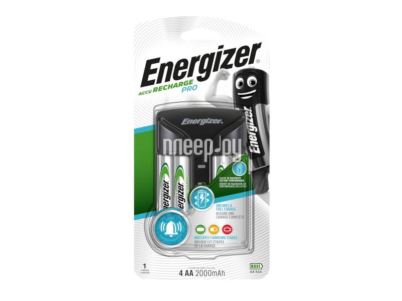 Зарядное устройство Energizer Pro Charger + 4 AA 2000 mAh 639837