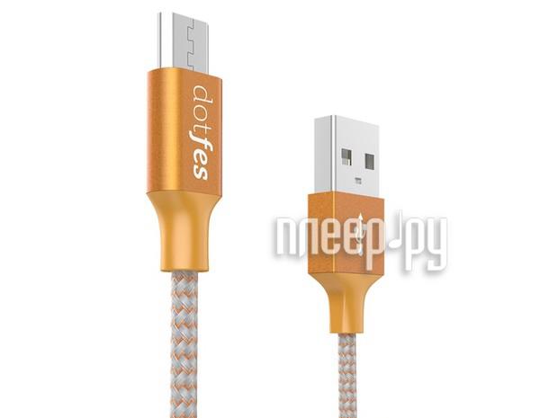Аксессуар Dotfes USB - Micro USB A06M 2.5A 1m Orange 14652