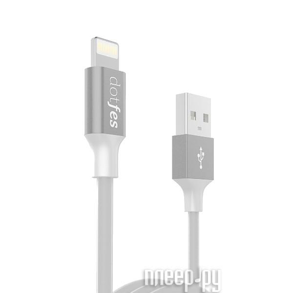 Аксессуар Dotfes USB - Lightning A03 2.5A 1m Grey 14613