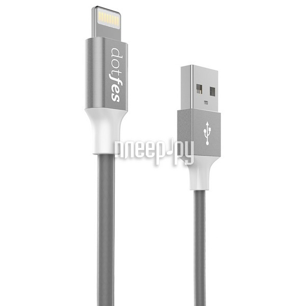 Аксессуар Dotfes USB - Lightning MFI A03F 2.5A 1m Tarnish 14607