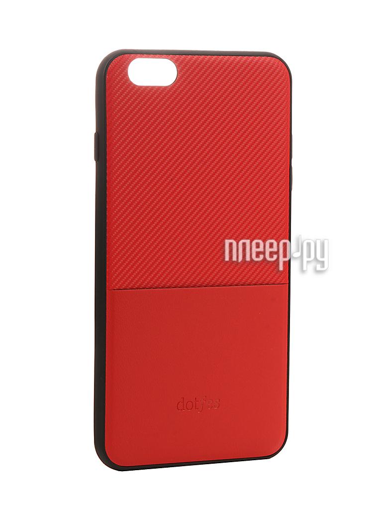 Аксессуар Чехол Dotfes G02 Carbon Fiber Card Case для APPLE iPhone 6 / 6s Red 47055