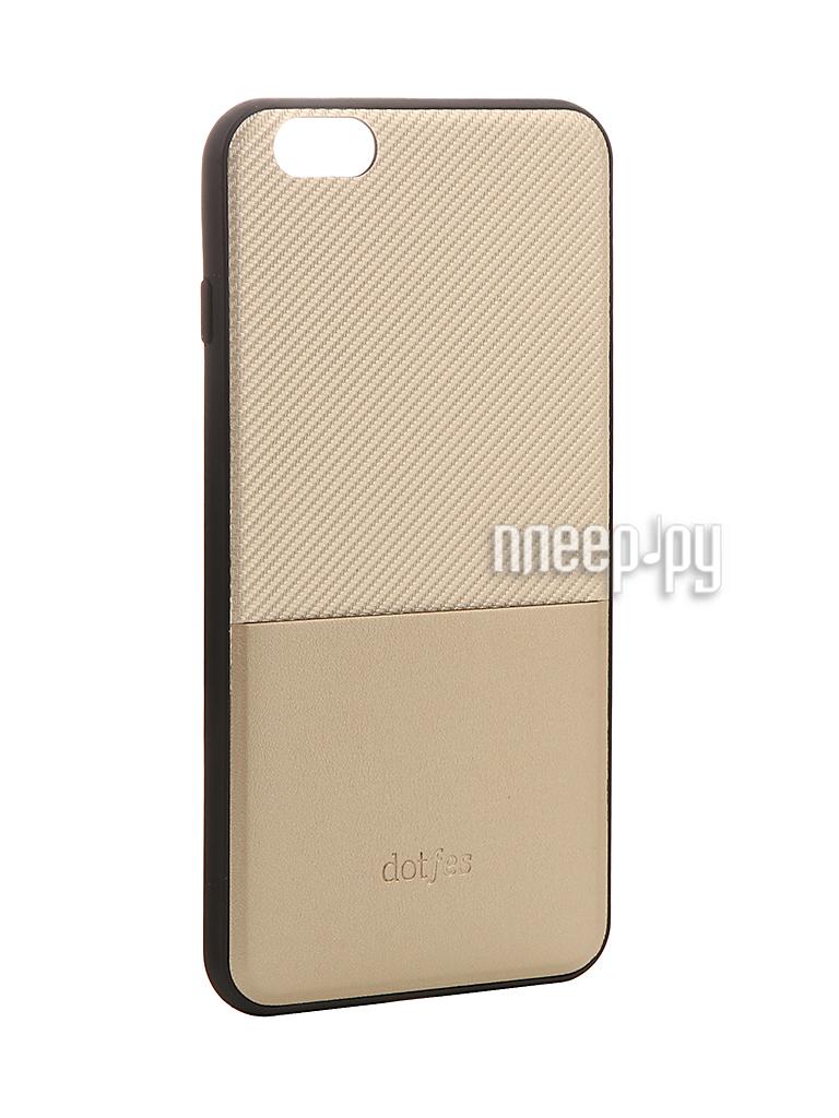 Аксессуар Чехол Dotfes G02 Carbon Fiber Card Case для APPLE iPhone 6 / 6s Gold 47054