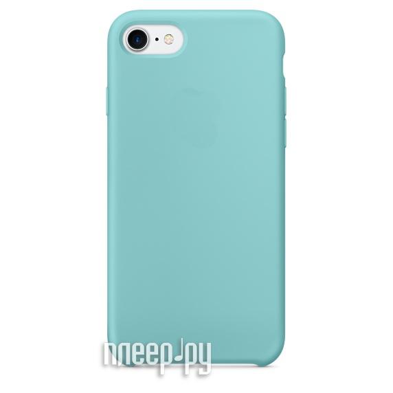 Аксессуар Чехол Krutoff Silicone Case для APPLE iPhone 7 Light Blue 10744