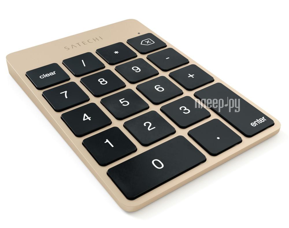 Клавиатура беспроводная Satechi Slim Rechargeable Gold ST-SALKPG